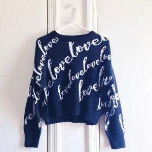 ASOS Love Crop Sweater